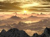Mountain Summit Sunrise or Sunset — Stock Photo