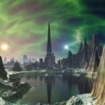 Euphoria Tower on Planet Electra — Stock Photo #18472669