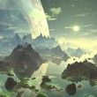 Planet Rise over New Eden — Stock Photo