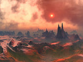 Forgotten Alien World — Foto de Stock