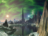 Euphoria Tower on Planet Electra — Stock Photo