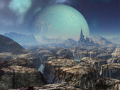 Ruins of Ancient Alien City — Stock Photo