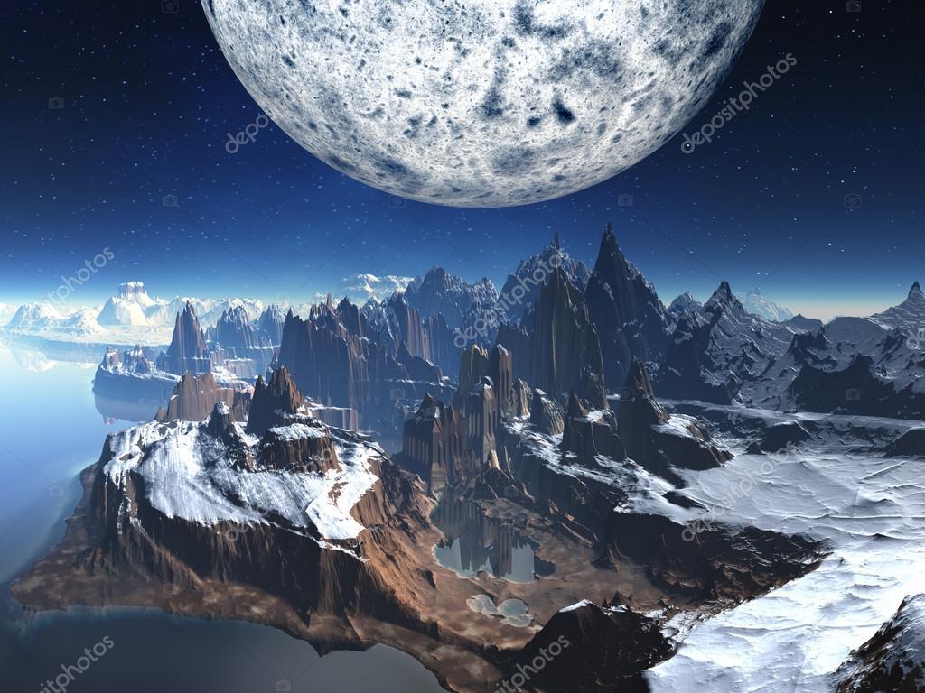 在冬天的风景被遗弃外星人寺