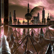 Stock Photo: Futuristic Metropolis on Distant World