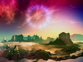 Wormhole mundo alienígena — Foto Stock