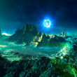 Alien Planet with Neutron Star - Stock Photo