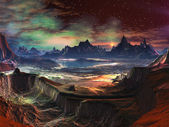 Alien Landscape - Firewalk Canyon — Stock Photo