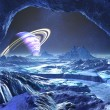 Stock Photo: Electric Blue Alien World