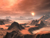 Alien Desert Sunrise — Stock Photo