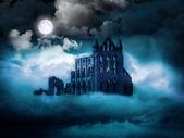 Abadía de whitby, costa de yorkshire del norte, reino unido — Foto de Stock