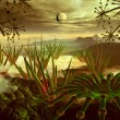 Stock Photo: Steamy Jungle on Faraway Planet