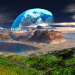 Royalty-Free Stock Photo: Hidden Cove on Distant Planet
