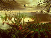 Steamy Jungle on Faraway Planet — Stock Photo