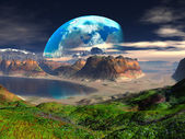 Hidden Cove on Distant Planet — Stock Photo