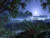 Mondo di giungla aliena — Foto Stock