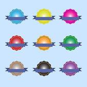 Distintivo conjunto de ícones — Vetor de Stock