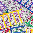 Colourful Bingo Cards - Stock Photo