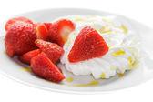 Strawberry and Meringue — Stock Photo
