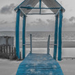 Blue Gazebo — Stock Photo