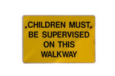 Children Sign Plate — Stock Photo