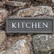 Kitchen Sign Plate — Lizenzfreies Foto
