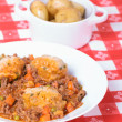 Mince and Dumplings — Stock Photo