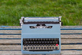Blue Typewriter — Stock Photo