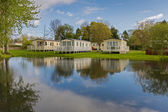 Luxurious Static Caravans in a Holiday Park — Stock Photo
