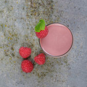 Raspberry Smoothie — Stock Photo