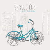 Bicycle city — Stock Vector