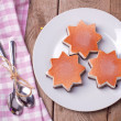 Ice cream in star form — Stockfoto
