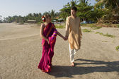 Young love couple in indian dress — Stock Photo