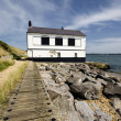 Old House on the Beach — Stock Photo
