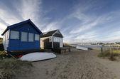 Beach Huts at Mudeford Spit — Stock Photo