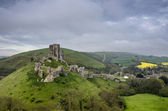 Corfe Castle Ruins — Stock Photo