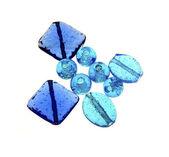 Blue Glass Beads — Stockfoto