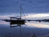 Łodzie w poole harbour — Zdjęcie stockowe