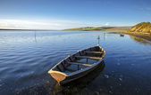 Boats on the Fleet lagoon — Foto Stock