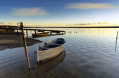 Boats on the Fleet lagoon — Stock Photo