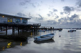 Boats at Sandbanks in Poole Harbour — Stock Photo
