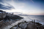Daybreak At Lyme Regis — Stock Photo