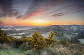 Sunrise at Corfe Castle — Stock Photo