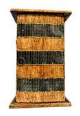 Drewniana szafka — Zdjęcie stockowe