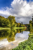 Der see am stourhead — Stockfoto