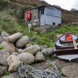 Stock Photo: Fishermans Hut and Boat