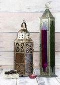 Glass and Bronze Lanterns — Stock Photo