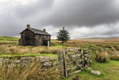 Abandoned Farmhouse On A Stormy Day in Dartmoor — Stock Photo
