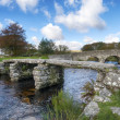 two biridges at postbridge on dartmoor — Stock Photo