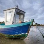 Blue Fishing Boat at Dawn — Stock Photo