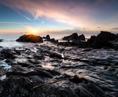 Sunrise at Looe Beach — Stock Photo